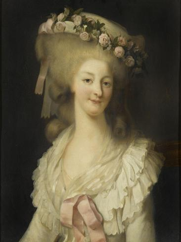 Marie-Thérèse-Louise de Savoie Carignan, princesse de Lamballe (1749-1792) Lámina giclée
