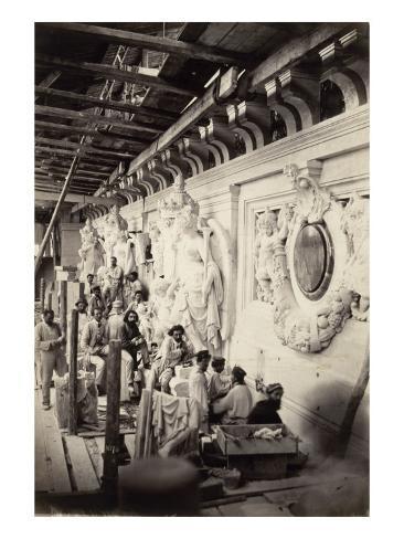 Workshop Sculptors Construction of the Paris Opera Stretched Canvas Print