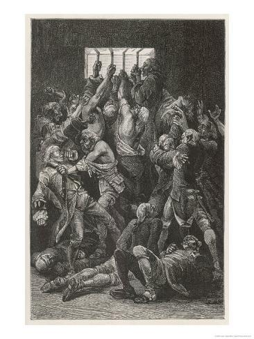 The Black Hole of Calcutta in Which Only 23 of 146 Prisoners are Said to Have Survived Giclee Print