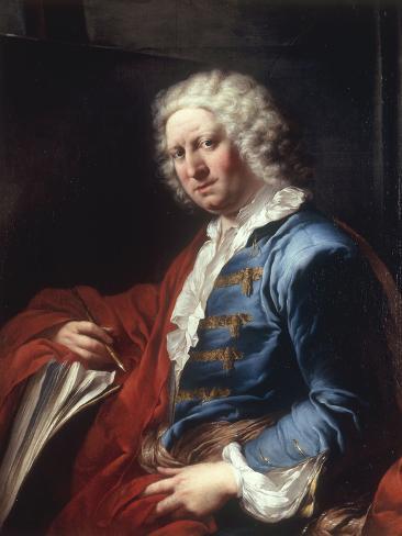 Portrait of the Artist Giovanni Paolo Panini, 1736 Lámina giclée