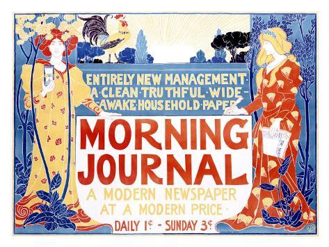 Morning Journal Giclee Print