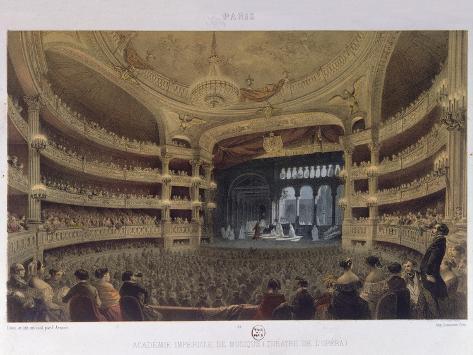 Academie Imperiale De Musique, Paris, C.1855 Lámina giclée