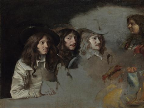 Three Men and a Boy Lámina giclée