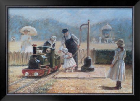 Model Railway Framed Art Print