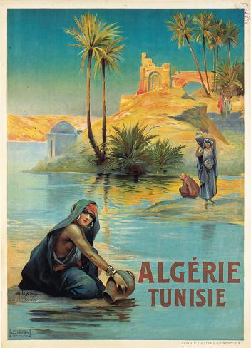 Algerie Tunisie Art Print