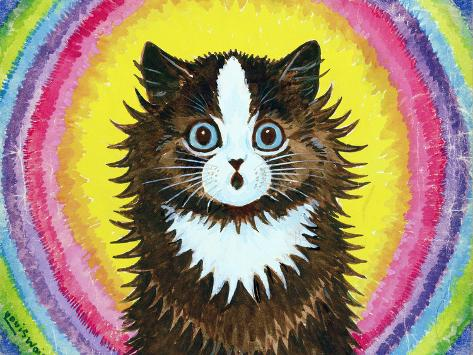 Cat in a Rainbow Giclee Print