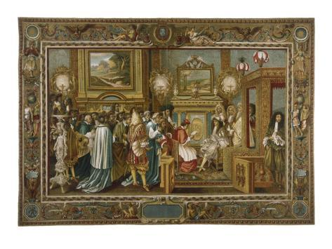 Louis XIV Fontainebleau Lámina giclée