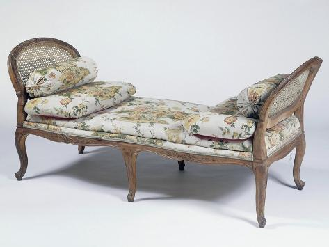 Louis XIV Style Beech Wood Daybed, Sweden Giclee Print