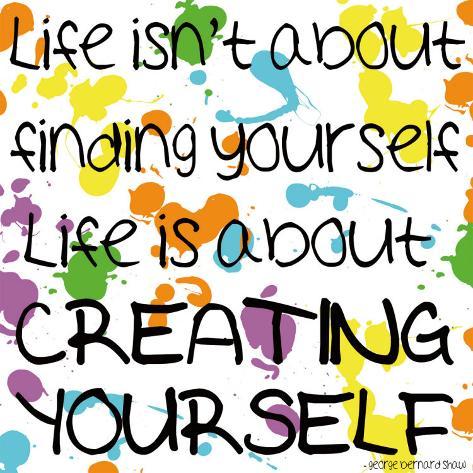 Creating Yourself Impressão artística
