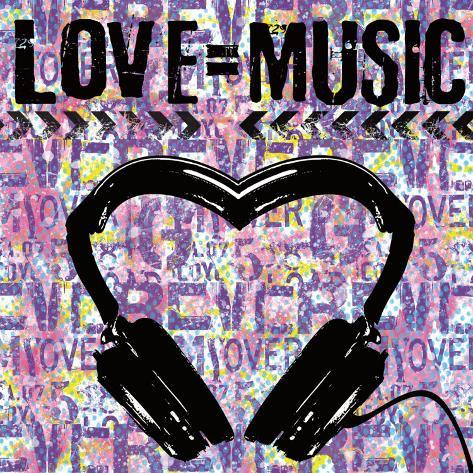Love Music Konstprint