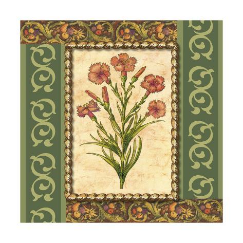 Victorian Floral I Art Print