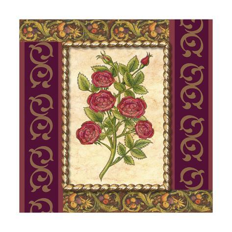 Victorian Floral IV Art Print