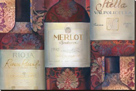 Red Wine Selection Pingotettu canvasvedos