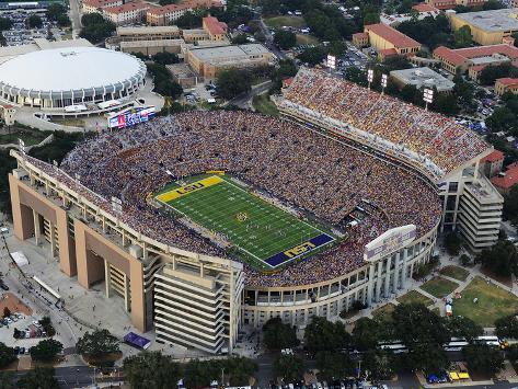 Louisiana State University - Tiger Stadium Aerial Photo