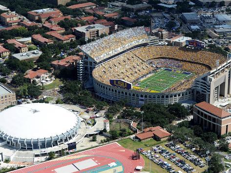 Louisiana State University - Tiger Stadium Stretched Canvas Print