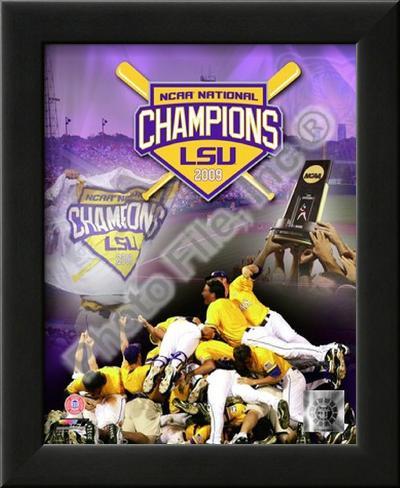 Louisiana State University Tigers 2009 NCAA Baseball Champions Lamina Framed Art Print