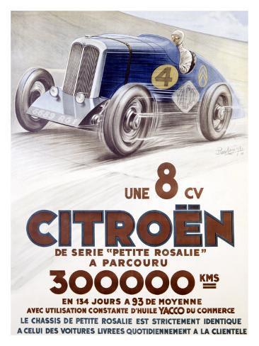 Citroen, Une 8 CV Giclee Print