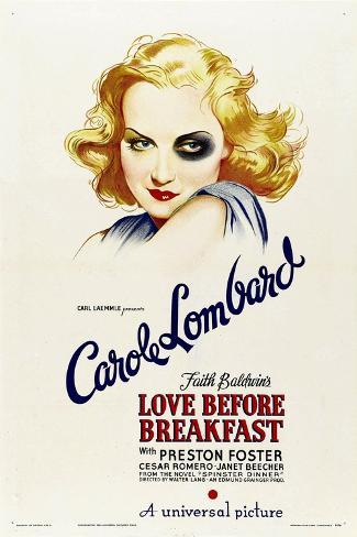 LOVE BEFORE BREAKFAST, Carole Lombard, 1936 Art Print