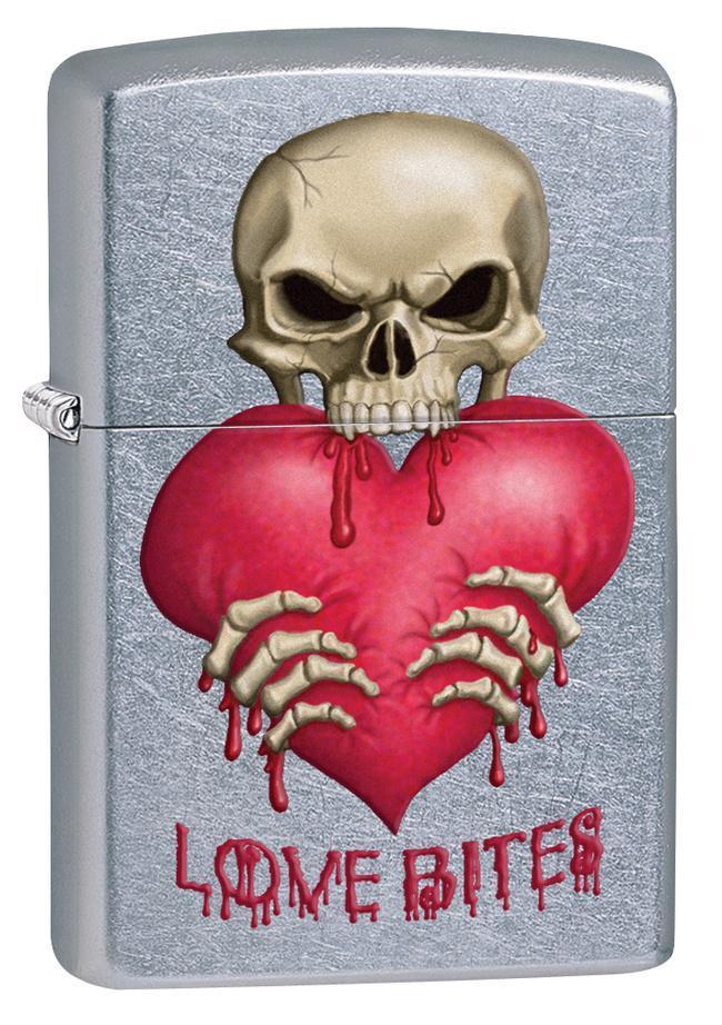 Love Bites Skull Street Chrome Zippo Lighter Lighter At Allposters