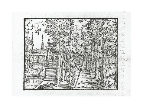 Love in Shepherd's Clothes, Prolog from Aminta by Torquato Tasso, Aldina Edition, 1574 Lámina giclée