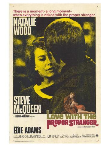 Love With the Proper Stranger, 1964 Premium Giclee Print