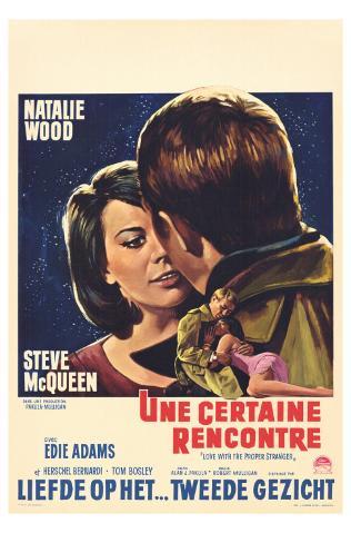 Love With the Proper Stranger, Belgian Movie Poster, 1964 Masterprint