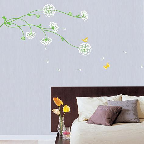 Lovely Flowers in the Wind Wall Decal