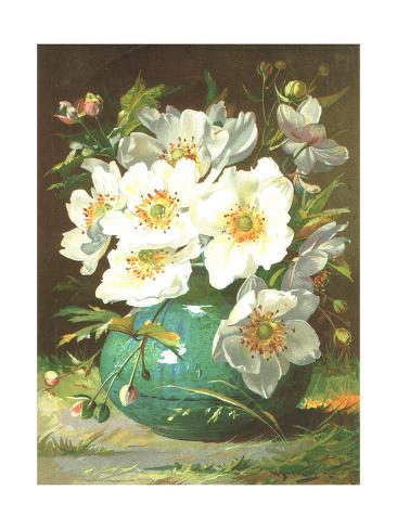 Lovely White Flower Bouquet Art Print