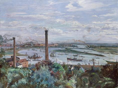 View of Kohlbrand, 1911 Lámina giclée