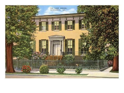 Low House, Savannah, Georgia Art Print