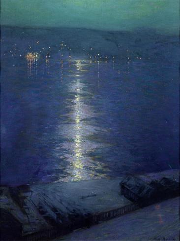 Moonlight on the River, 1919 Giclee Print