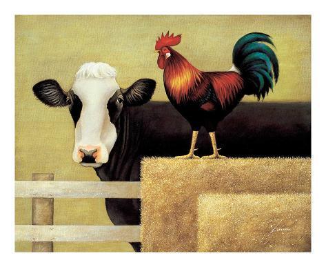 Barnyard Cow Art Print