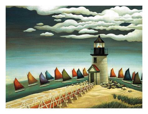 Rainbow Fleet Art Print