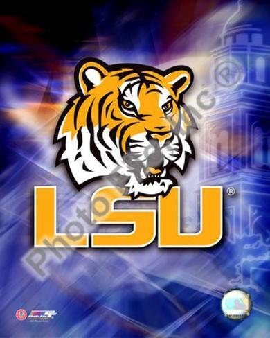 LSU Logo Framed Photographic Print
