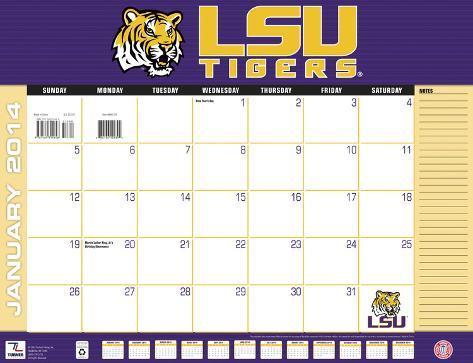 LSU Tigers - 2014 Desk Calendar Calendars