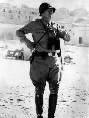 Lt. General George Patton, Sicily, 1943 Photo