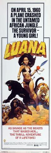 Luana, the Girl Tarzan, 1968 Konstprint