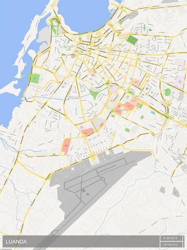 Luanda Angola Map Prints AllPostersca