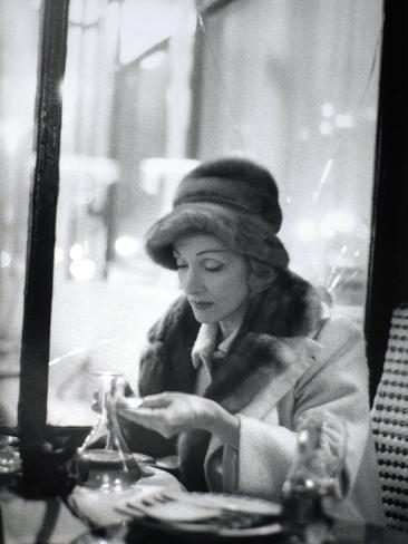 Marlène Dietrich (1901-1992) in a Café Photographic Print