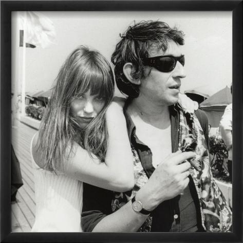 Serge Gainsbourg and Jane Birkin, July 23, 1970 Framed Photographic Print