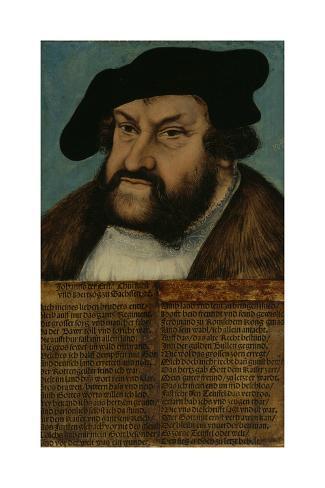 Portrait of John the Steadfast, Elector of Saxony, C.1532-33 Lámina giclée