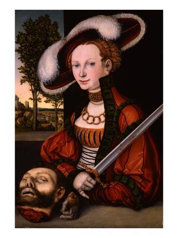 Judith with the Head of Holofernes, 1530 Lámina giclée