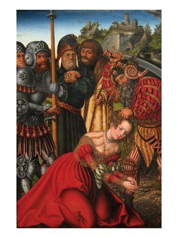 Martyrdom of Saint Barbara Art Print