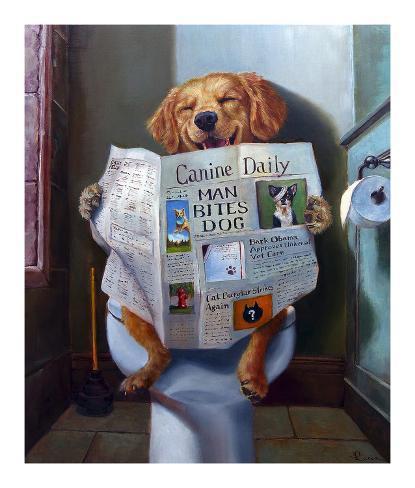 Dog Gone Funny Kunstdruk
