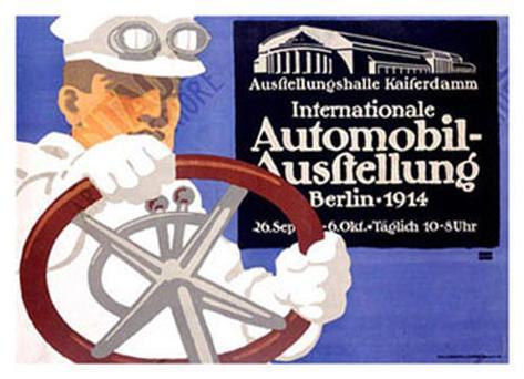 Automobil Ausstellung Giclee Print
