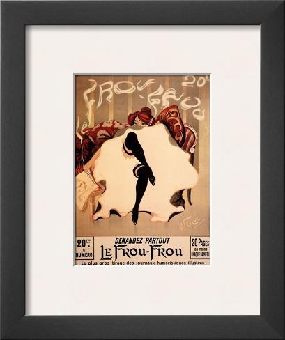Le Frou Frou Framed Art Print