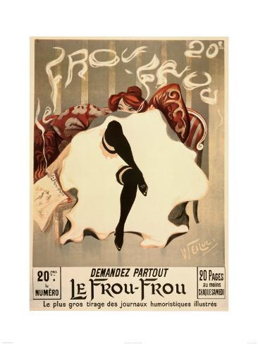 Vintage  Le Frou  Frou Lámina