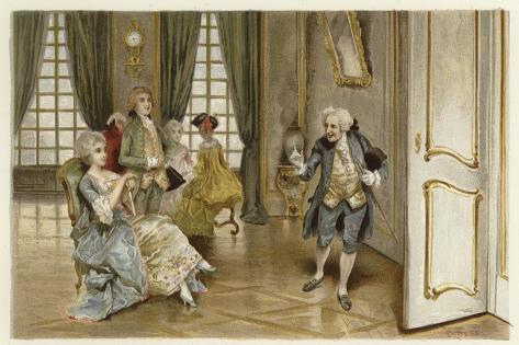 Illustration for the School for Scandal Giclee Print