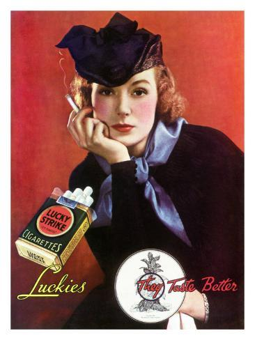 Lucky Strike Cigarette Giclee Print