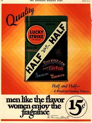 Lucky Strike, Cigarettes Smoking, USA, 1930 Giclee Print